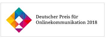Deutscher Preis für Onlinekommunikation 2018