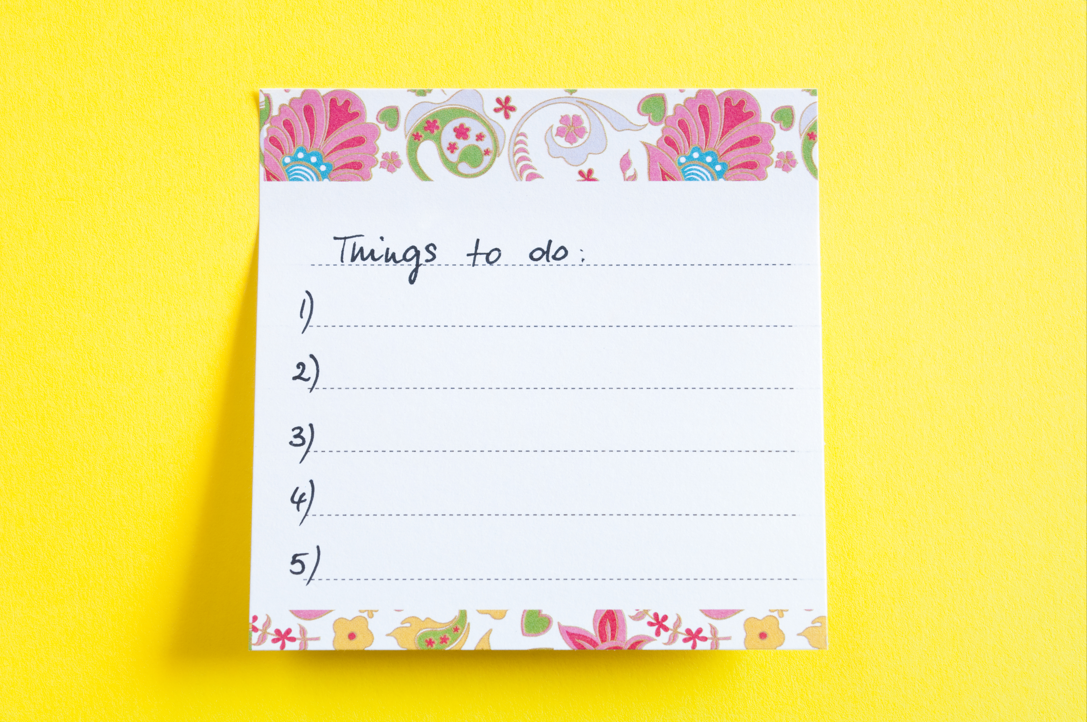Things to do-Liste