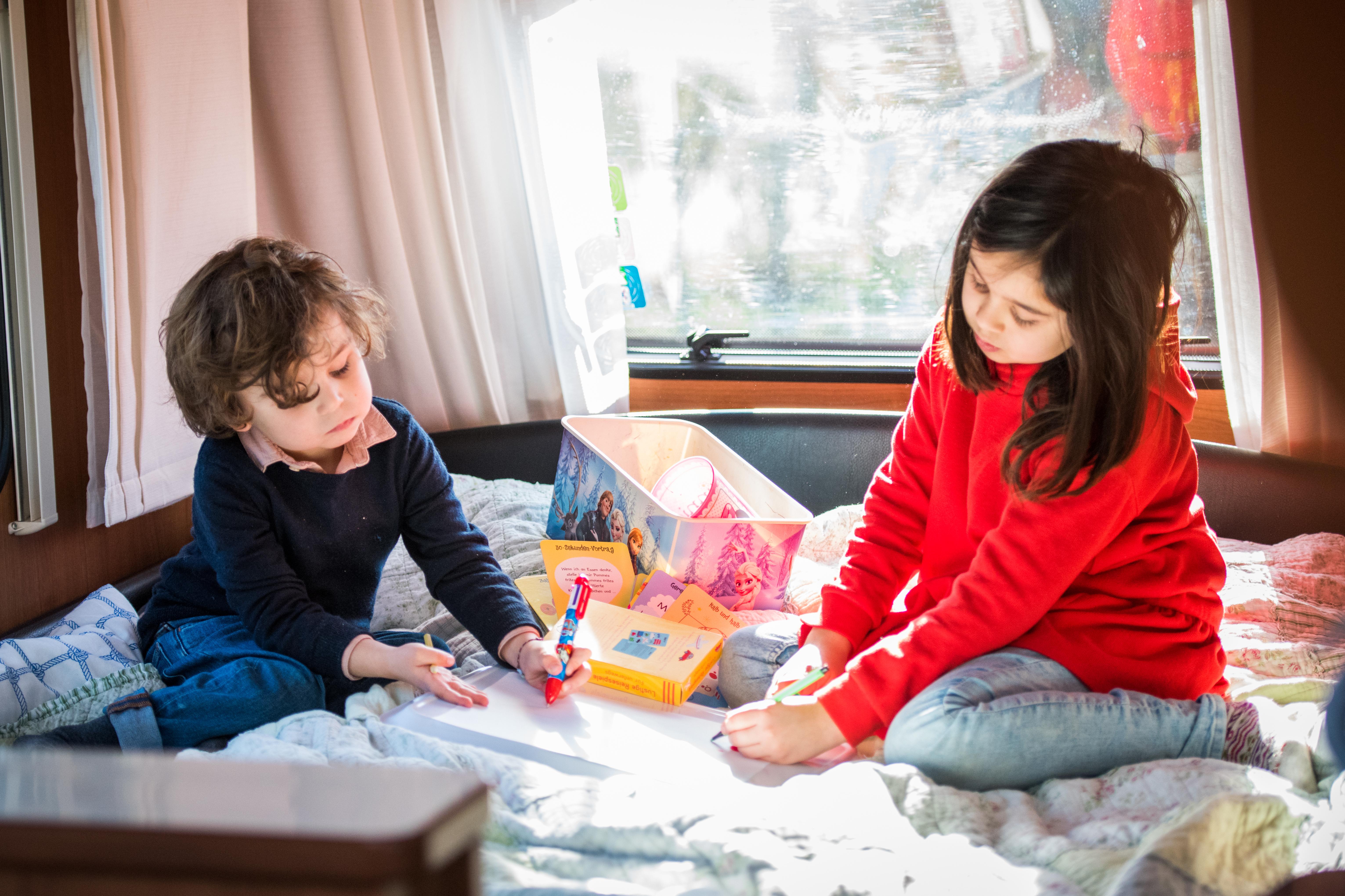 Camping mit Kinder - Basteln