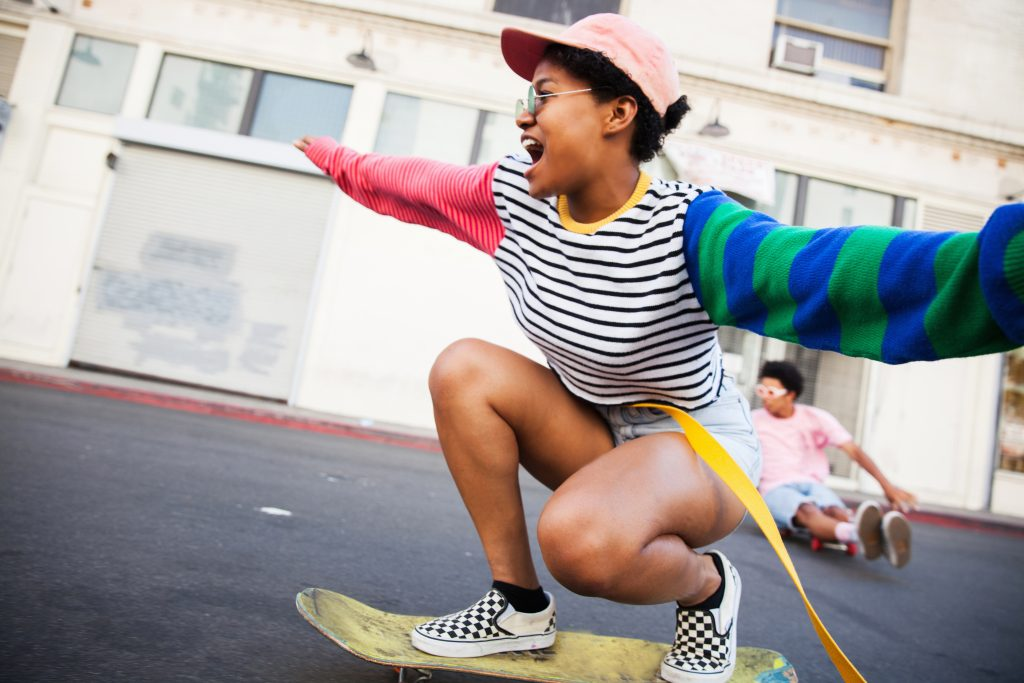 Ausflug, Familie, Skateboard